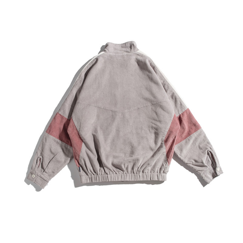 Осенняя новая мужская куртка, модная, потертая, одноцветная, повседневная, рабочая, куртка, пальто, Мужская Уличная, дикая, свободная, куртка ... - 5
