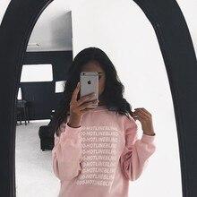 Fashion Street Sweatshirt Tops Tide Man Long Sleeve Plus Velvet Women