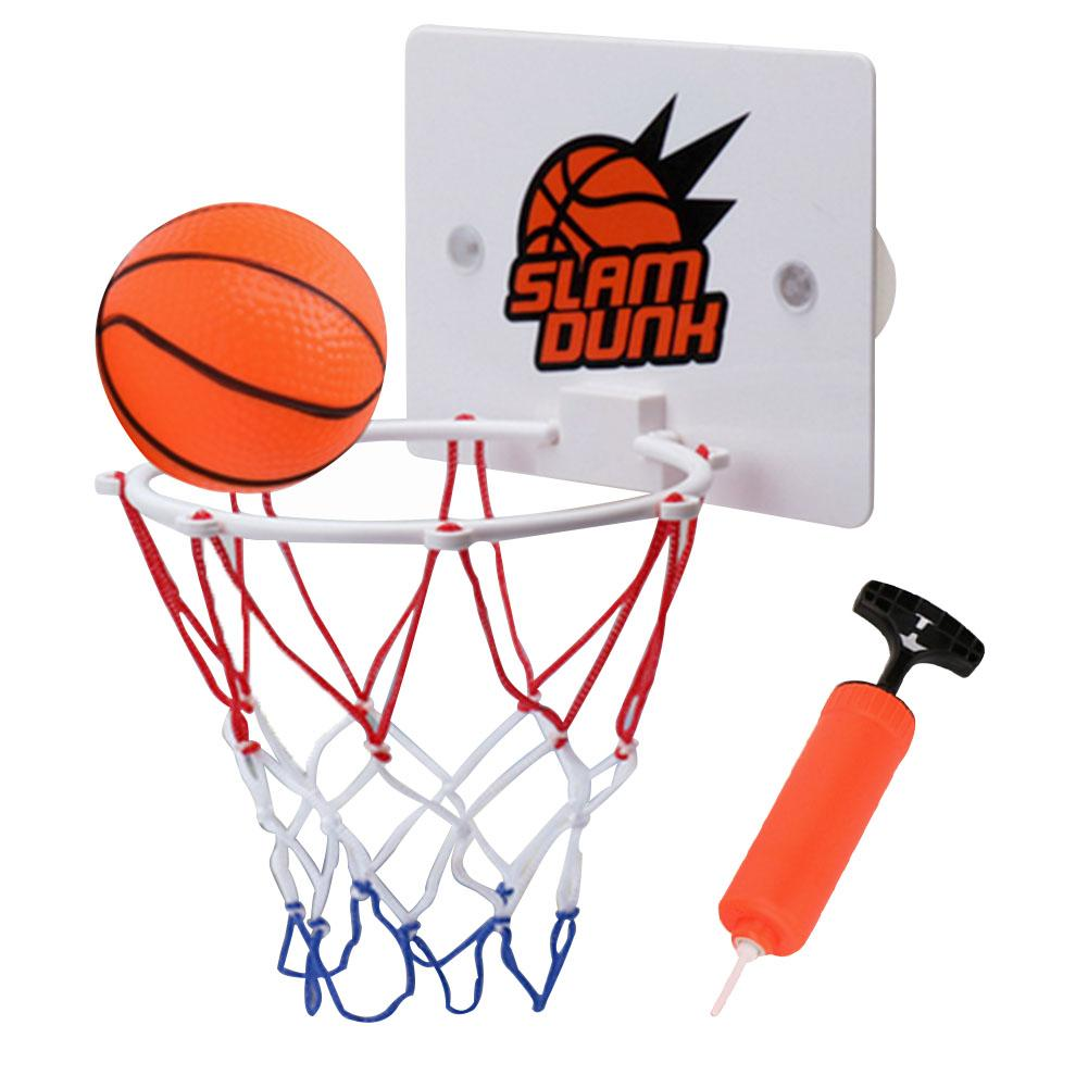 Children Kids Mini Basketball Hoop Toys Suck Wall-Mounted Stand With Pump Sport Toy 3pcs/Set  Pump Basketball Basketball Stand