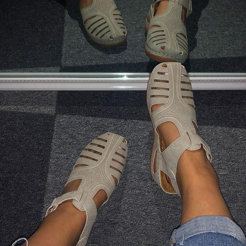 MCCKLE/женские летние кожаные старинные сандалии 2020 года с пряжкой; Повседневные женские сандалии в стиле ретро; Женская обувь на платформе; Размеры 36 46|Боссоножки и сандалии|   | АлиЭкспресс