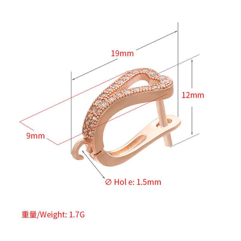 ZHUKOU 12x19 มม.Excellet ทองเหลืองต่างหูคริสตัล Hooks อุปกรณ์เสริมสำหรับ handmade DIY ต่างหูเครื่องประดับชุด: VE99