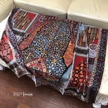Luxury Warm Persian Carpet Cashmere Silk Scarf Women Coat Wraps Headscarf Shawl Scarves Poncho Foulard 135*135cm цена