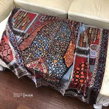Luxury Warm Persian Carpet Cashmere Silk Scarf Women Coat Wraps Headscarf Shawl Scarves Poncho Foulard 135*135cm - DISCOUNT ITEM  10 OFF All Category