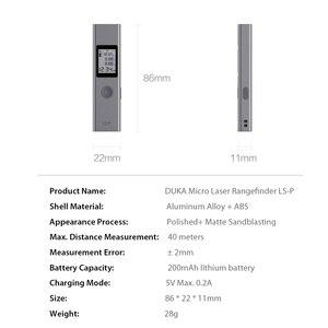 Image 5 - Xiaomi mijia duka LS P 40m/25m, localizador de alcance, alta precisão, usb, carregamento flash, alcance portátil telêmetro telêmetro