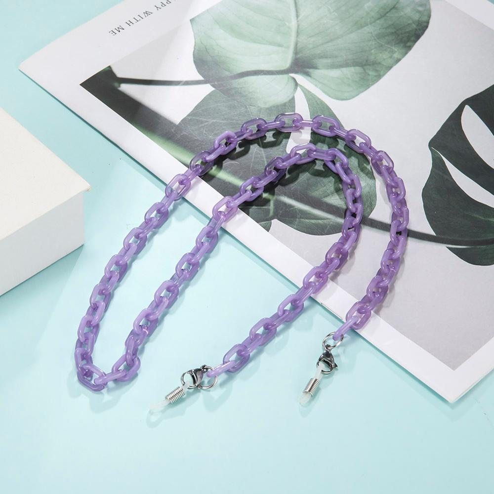 Teamer Acrylic Chain for Mask Necklace Black Glasses Chain Sunglasses Straps Lanyards Women Men Neck Holder with Loster Claps