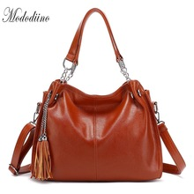 Mododiino Tassel Women Handbag PU Leather Shoulder Bag Womens Tote Purse Crossbody Bags For Luxury Red DNV1204
