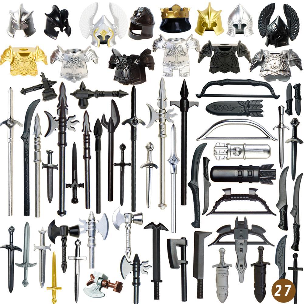 Средневековые времена оружие для 4 см Мини-куклы военные фигурки MOC строительные блоки кирпичные игрушки для детей
