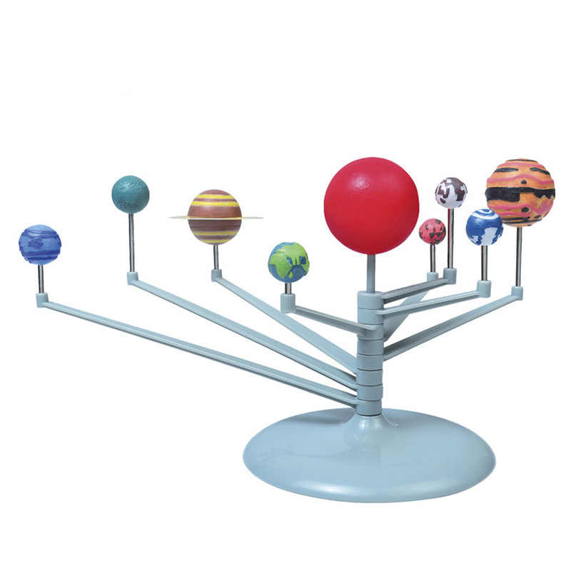 Nine Planet Model Puzzle Assembled Solar System Planetary Instrument Children Science and Education Diy Toys Set Luminous