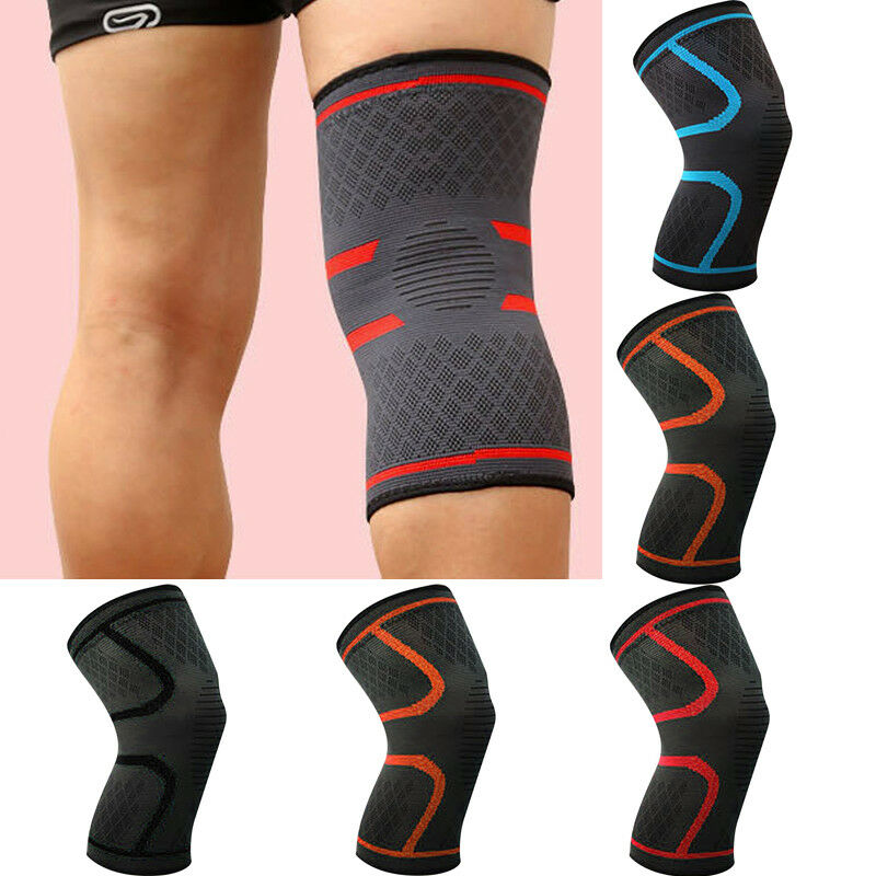 Elastic Compression Sleeve Knee Support Brace Knee Pads Basketball Running Knee Protective Sleeve