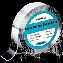 1m/3m/5m nano fita mágica dupla face fitas scotch notrace reutilizável impermeável fita adesiva limpa decoração de casa