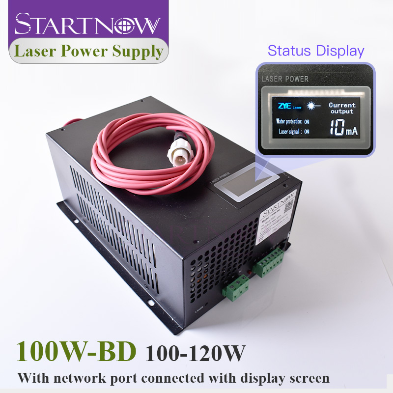 Startnow 100W-BD Laser Power Supply 100W With Display Screen 90W 120W For CO2 Laser Tube Engraving Cutting Machine Spare Parts