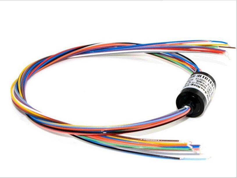 Brushless PTZ Motor 12 Way 2A Outer Diameter 12.5mm Slip Ring Crossing
