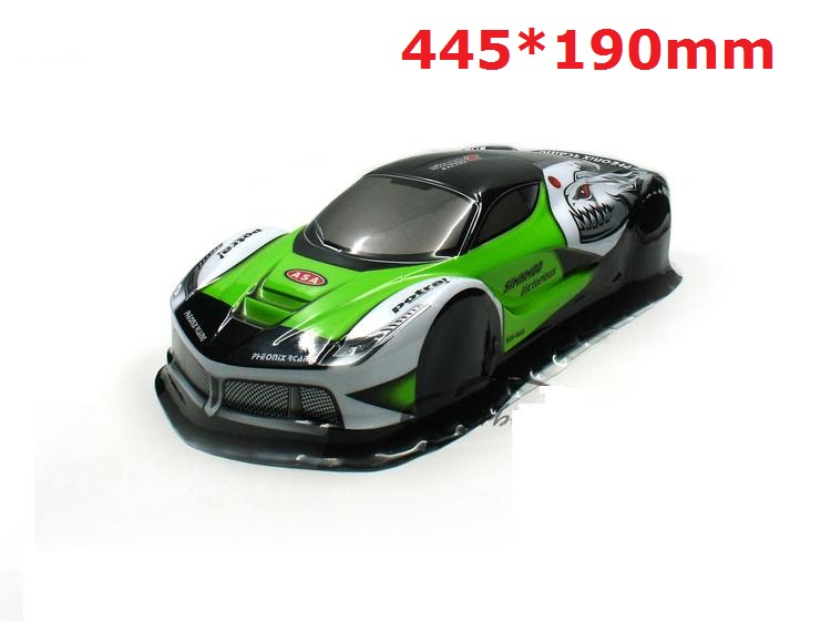 YUKALA <font><b>1/10</b></font> remove control car parts PVC painted body shell for <font><b>1/10</b></font> <font><b>RC</b></font> Racing on-road <font><b>drift</b></font> car 445*195mm <font><b>wheel</b></font> base 255mm image