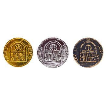100pcs Pirate Treasure Game Poker Chips Gold Plating Plastic Poker Casino Coin dhl free shipping small blind poker coin poker cards guard protector metal token coin 40 3mm