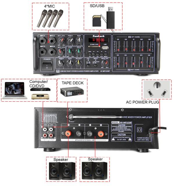 110/220V 2000W USB SD AMP FM DVD AUX   4