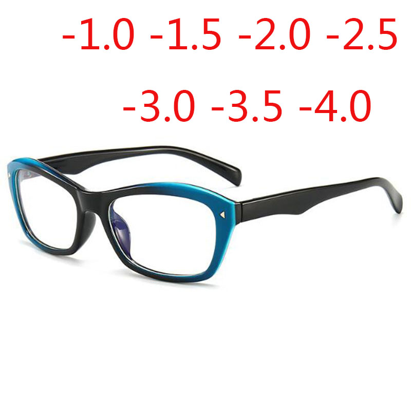 Rivets Frame Minus Lens Diopter Glasses Male Female Square Short-sight Eyewear Myopes  -1.0 -1.5 -2.0 -2.5 -3.0 -3.5 -4.0
