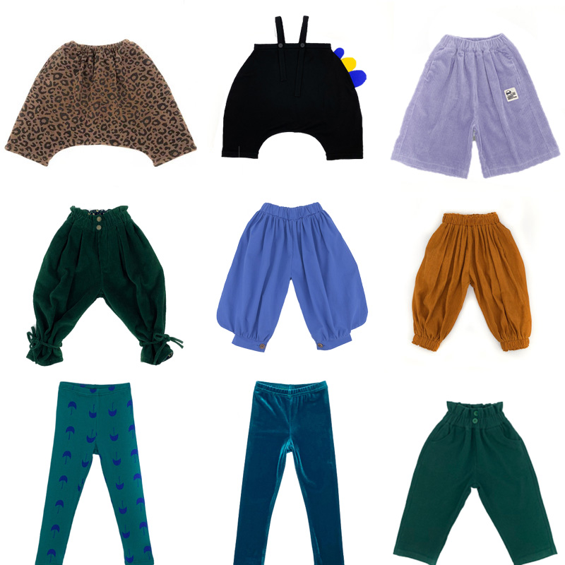 Kids Pants Autumn Winter Toddler Boys Harem Pants MF Brand Infant  Jeans Thanksgiving Baby Girls Leggings Children Trousers 1-8Y 1