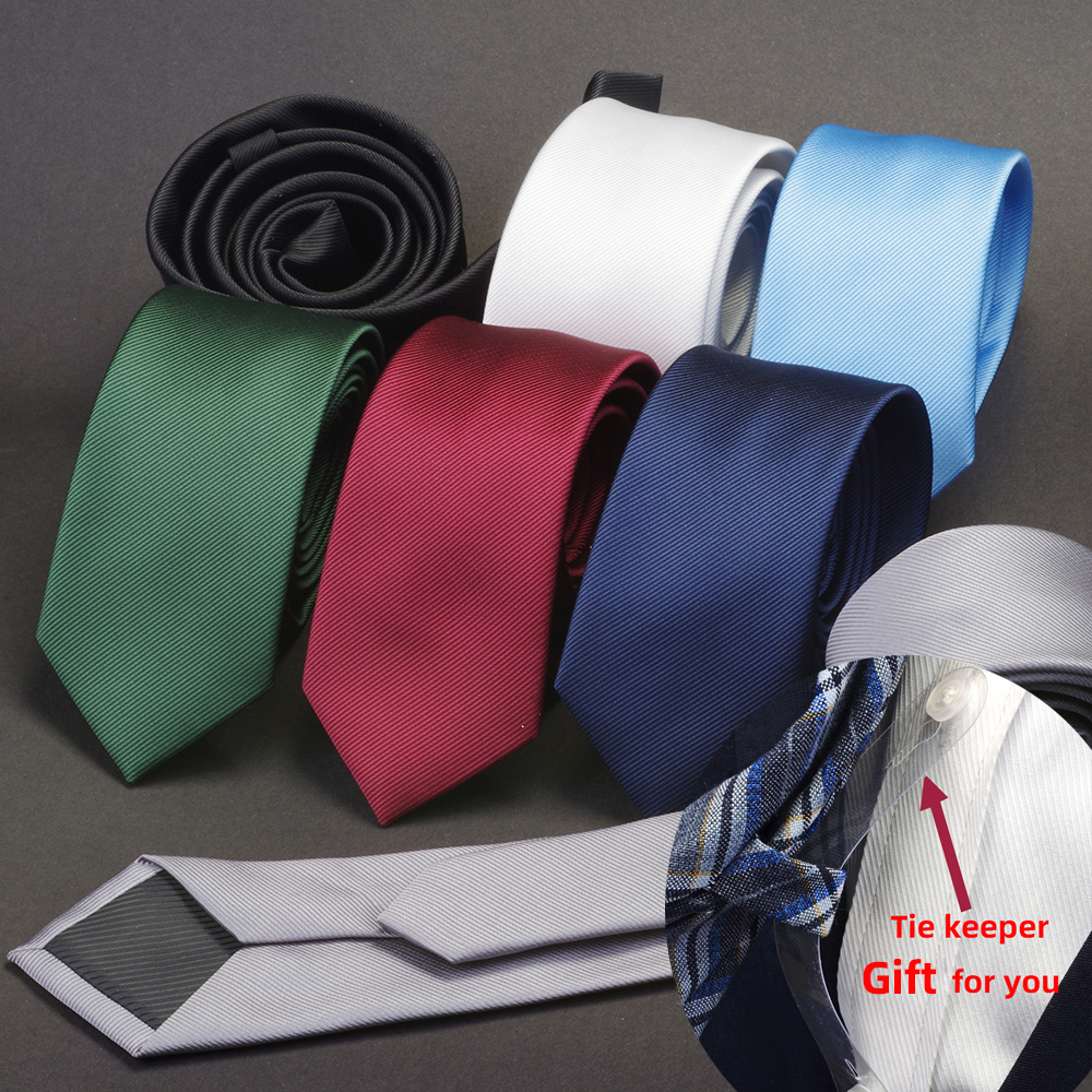 GUSLESON Men Solid Navy Blue Classic Ties For Bridegroom Green Color 6cm Slim Neck Ties For Wedding Tie Skinny Groom Tie For Men