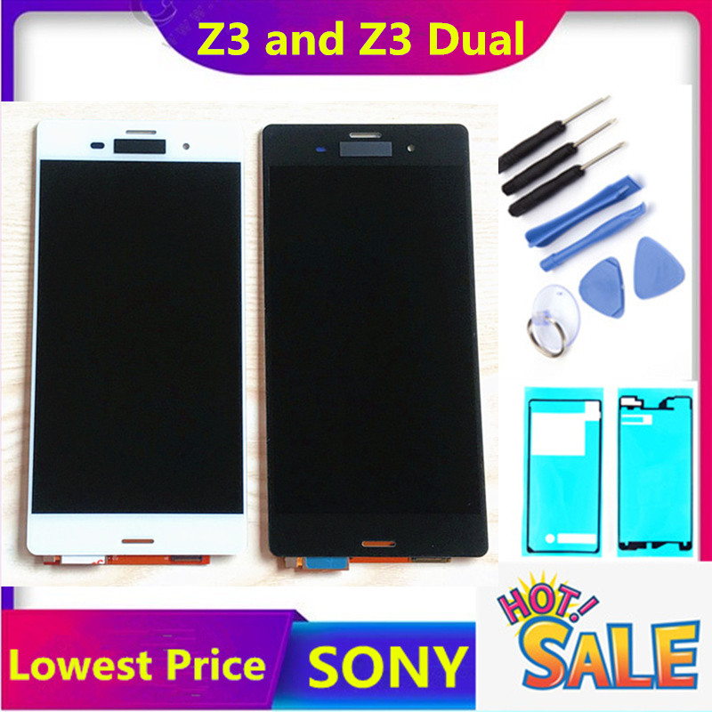 5.2'' ORIGINAL For SONY Xperia Z3 LCD Display Touch Screen D6603 D6616 D6653 Replacement LCD For SONY Xperia Z3 Dual D6633 D6683