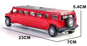 Image 5 - high simulation 1:32 alloy limousine metal diecast car model pull back flashing musical kids toy vehicles gifts free shipping