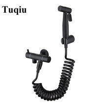 Black Bidet Toilet Sprayer Hygienic Shower Tap Bidet Stainlsss Steel Bathroom Hand Shower Wall Mount Faucet Bathroom accessories(China)