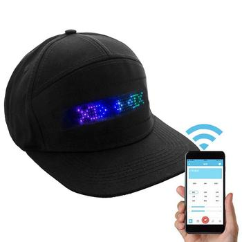 LED Message Hat for Men and Women with Bluetooth Used for Party or Hip Hop dance
