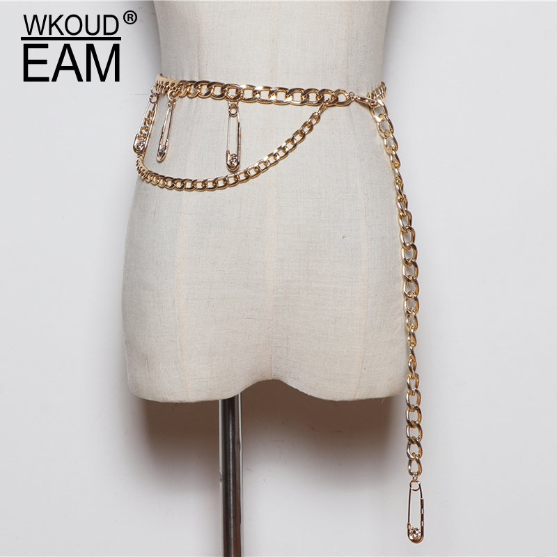 2020 New Fashion Design Alloy Belts For Women Trendy Solid Metal Pins Chains Corset Belt All-match Waistband Female Tide ZL114