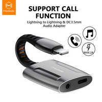 Mcdodo Aux Audio Cable Call Adapter To 3.5mm Jack Audio Earphone Headphone Converter Splitter for IPhone Charger Adapter OTG