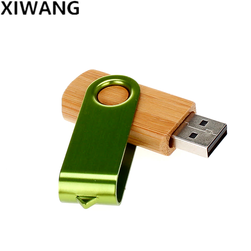 Image 2 - new Wooden Rotary USB Flash Drive 128gb usb Memory Stick Pendrive 4GB 8GB pen drive 16GB 32GB 64GB Personal 2.0 Free Custom Logo-in USB Flash Drives from Computer & Office