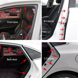 Image 3 - L tipi araba kapı kauçuk conta şerit çift katmanlı sızdırmazlık yapışkan çıkartmalar araba yalıtım Weatherstrip oto iç aksesuarları