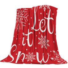 Christmas Snowflakes Let It Snow Blanket Unisex Children Couch Bedspread Throws Cover Durable Warm Cozy Coverlet Blankets(China)