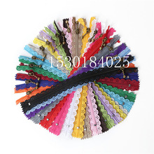 Nylon Lace Tailor-Craft Zippers Sewing 10pcs Bags for Bed-Bag DIY Novelty 6-Holes 20/Color