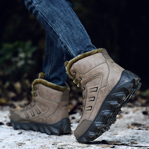Image 5 - Áo Cổ Cao Hàng Đầu Plus Nhung Giữ Ấm Lớn Kích Thước Mắt Cá Chân Giày Chống Trơn Trượt Tuyết Giày Mùa Đông Nam Thể Thao cao Su Giày