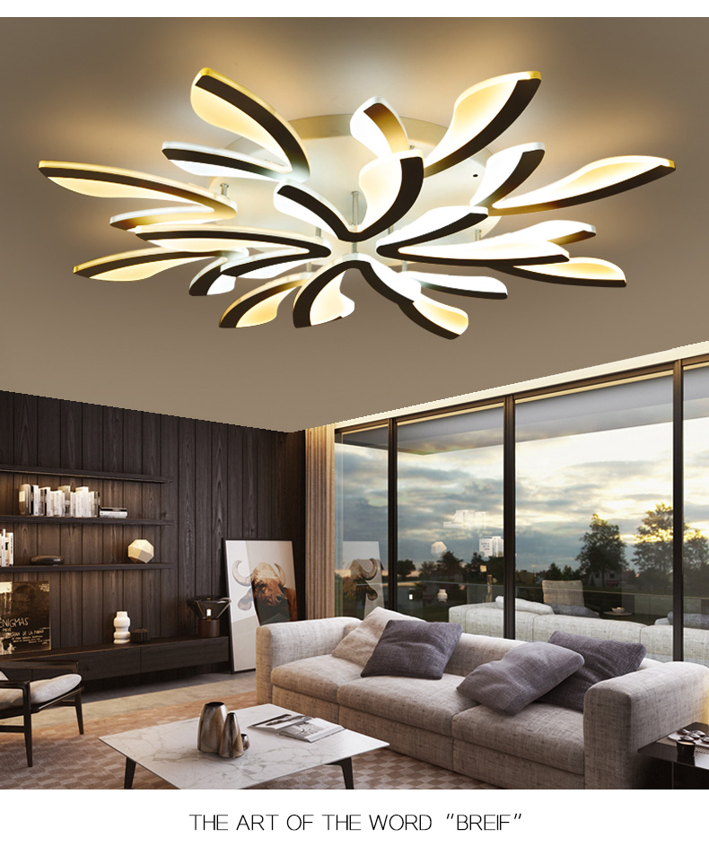 H5f11c087cb2b42f3b36ed2ed347a9ab6n LED Ceiling Lights Dandelion Indoor Ceiling Lamp Modern Simple Post-Modern Living Room Bedroom Dining Room Study Room