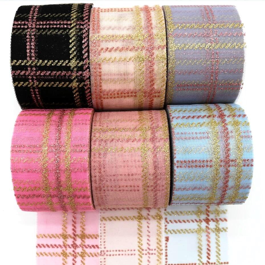"100 Yds~ 6//16/"" Grosgrain Polka Dot Ribbon ~ Brown//Pink"
