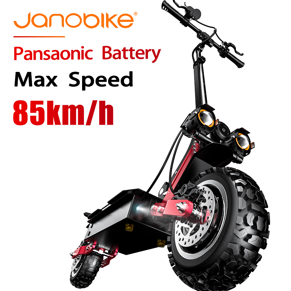 Janobike 5600W T85 Electirc Scooter 85km/h Scooter Electric 32Ah Panasonic Battery Kick Scooter With Hydraulic Brake Dual Drive
