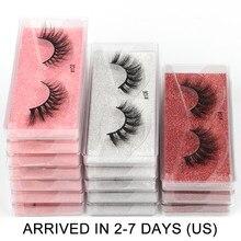 Atacado cílios 10/50/100/200 pares falso 3d vison cílios postiços naturais maquiagem cílios grossos vison cílios no volume