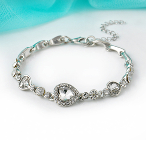 Браслет стразы Laramoi с бриллиантами, браслет с сердцем океана, свадебный браслет для невесты, ювелирные изделия из титановой стали для вечеринки Гибкие и жесткие браслеты      АлиЭкспресс