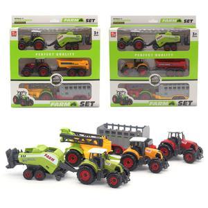 Мини Diecas сельскохозяйственный трактор автомобиль модель кареты набор Детская игрушка игрушечный автомобиль Настольная декорация миниатю...