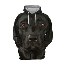 2021 New 3D Full body print Pet hoodie Funny dog hoodies Men\\women adult children's Cute dog pattern tops European size
