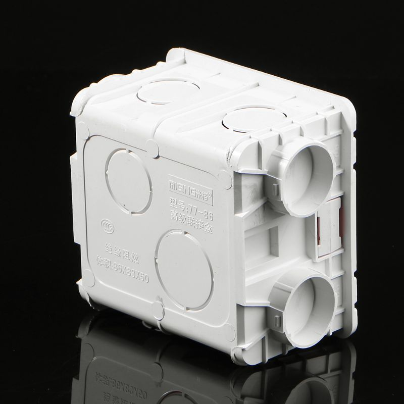 86-Type PVC Junction Box Wall Mount Cassette For Switch Socket Base