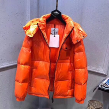 2021 Winter Men's Down Jacket Orange Hooded Long Sleeve Coat Warm Casual Outfit 95% White Duck Down Can Resist -30 Celsius