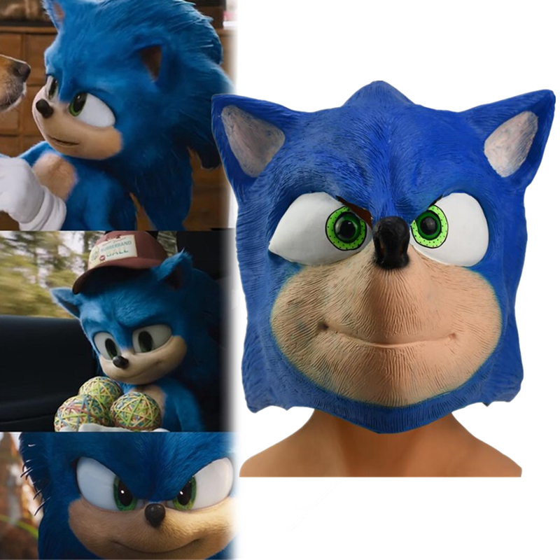 Cartoon Anime Game Sonic The Hedgehog Periphery Cosplay Props Accessories Natural Latex Mask Holiday Dress Headgear Gift Boys Costume Accessories Aliexpress