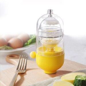 Rzuć jajko Scrambler złoty jajko Shaker mikser Scramble jajka trzepaczka wewnątrz powłoki instrukcja kuchnia gotowanie narzędzie formy do jajek MakerCook