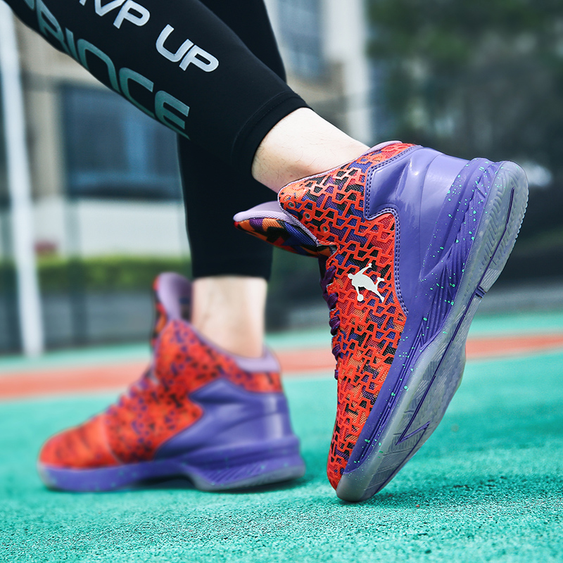 [45% OFF] Basketball Shoes men Sneakers summer Breatheable mesh Basket Shoes High Top Wearable Rebound Gym Sports Shoes Trainers Women 47