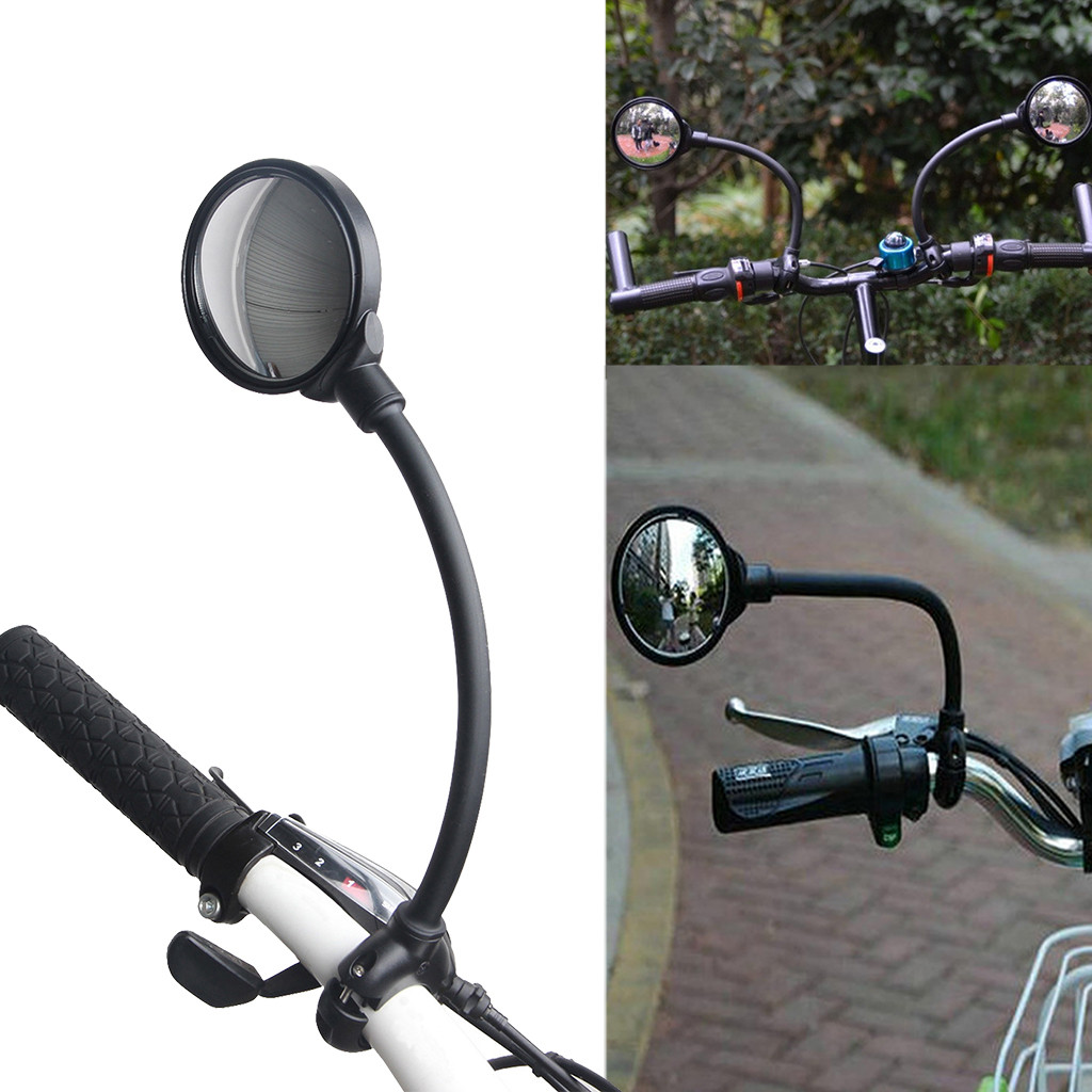 1PC Bike Mirrors Hose Adjustment Handlebar Rearview Mirror For Bike MTB Bicycle Safety Rear View Cycling Bike Accessories # gh