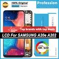 100% оригинальный 5,8 ''AMOLED дисплей для Samsung Galaxy A20e A202 A202F A202DS Полный ЖК сенсорный экран Запасные части + Сервисный пакет