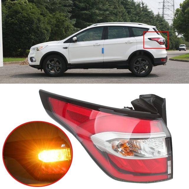 DWCX Left Side Car Outer Tail Rear Light Brake Stop Fog Lamp Fit for Ford Kuga MK2 2017 2018 2019