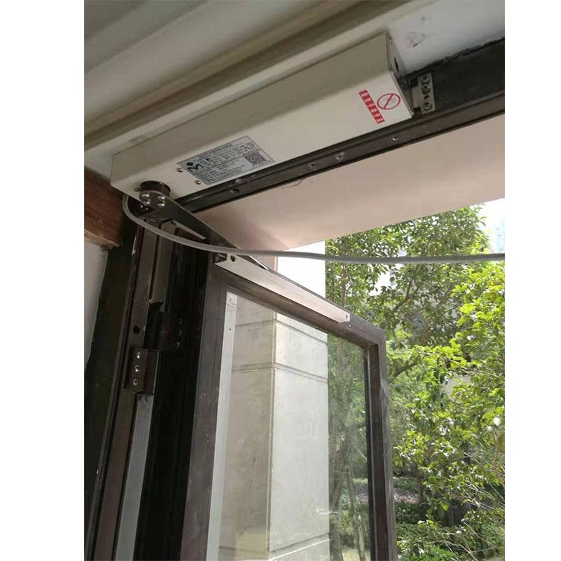 KJ&GALO 220v Electric Window Opener Wifi Intelligent Remote Control Casement Window Push Window Pet Door Opener