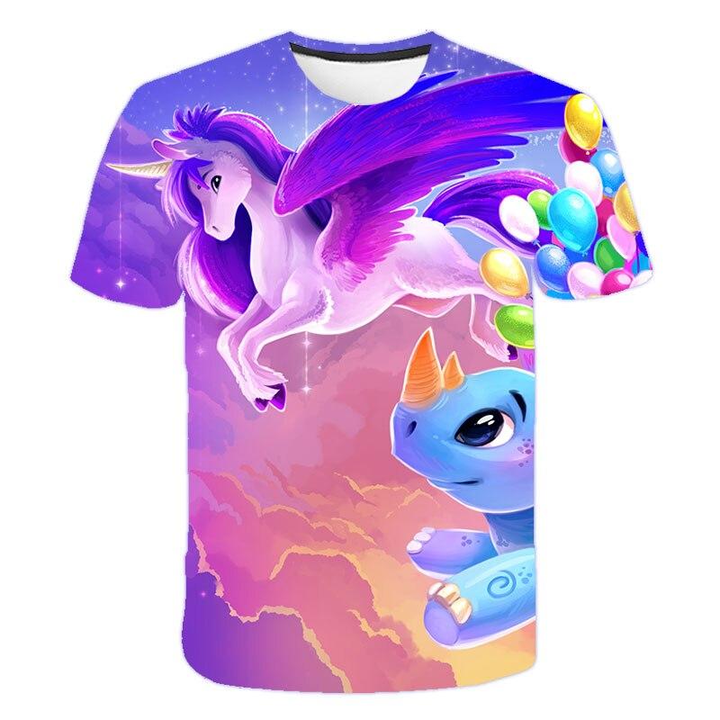 H5f12f307047b41b788d03c3120c8c3cac Baby Girls T-shirt 4 5 6 7 8 9 10 11 12 13 14 Years Unicorn Kids T Shirt Children Clothes Summer Unicorn T shirts Girl s Tee